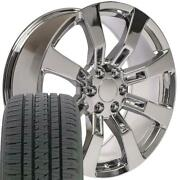 Oew Fits 22 Chrome Escalade 5409 Wheels And Tires Rims Cadillac