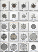 Usa Lot Of 20 Coins 1 Cent - 1 Dollar 1902 -1979 Incl. Silver Y5