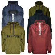 Mens Lambretta Classic Scooter Overhead Showerproof Hooded Jacket Sizes S To 4xl