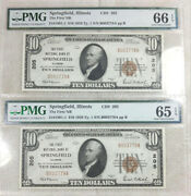 1929 Type 1 Springfield Illinois 10 Nationals - Pmg Consecutive Gems
