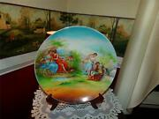 Nippon Vntg. Lovers Victorian Italy Charger Plate Cherub Wow Rare Pattern