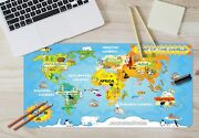 3d Funny World Map 28 Non-slip Office Desk Mouse Mat Large Keyboard Pad Game