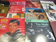 Elvis Presley Vinyl Collection Of Mostly Rare Out Of Print Titles 23 W/ 34 Sides
