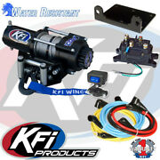 Kfi 2500 Lb Winch Set And Mounting Kit To Fit Yamaha Grizzly 660 4x4 02-08