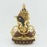 Gold Gilded Hand Carved Aparmita Tsepame Shakti Copper Statue From Patan, Nepal