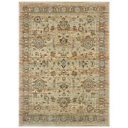 Sphinx Beige Transitional Casual Vines Bulbs Distressed Area Rug Floral 8020j