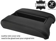 Black Stitching Sliding Phone Armrest Real Leather Cover Fits Bmw E39 1996-2003