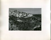 Vintage 1950s Travel Photo Medieval Town Of Vence France View From Adjacent Hill