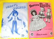 2 Vintage Mary's Doreen Doll Clothes Crochet Knit Knitting Pattern Books Book