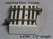 Lionel American Flyer Fastrack 1.75 Straight S Gauge 2 Rail Track 6-47987 New