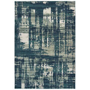 Sphinx Blue Faded Worn Vintage Distressed Contemporary Area Rug Abstract 5990b