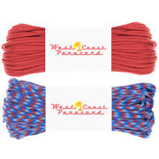 West Coast Paracord 200 Foot Value Pack - Usa Made 550 Paracord - Color Options