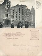 San Francisco Ca 1906 Earthquake Fire Grand And Palace Hotels Antique Postcard