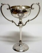 Lg. Antique Sterling Horse Racing Trophy 1909 By Shreve And Co. San Francisco