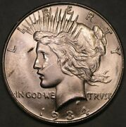 1934 Micro D Peace Silver Dollar Very Rare Top 50 Vam 4 Double Die Ngc/ncs Unc