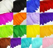 Ys 6 Dyed Natural Goose/duck Big Feather Fringe Craft Trim Earring Fascinator