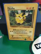 1999 1st Edition Pikachu 60/64 Mint Condition 50 Hp Lv. 14 25 Jungle Background