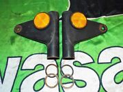 Kawasaki S2 350 Left Right Fork Ears With Reflectors And Spacers 1972