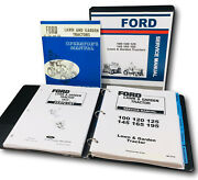 Ford 100 120 Lawn Garden Tractor Service Repair Parts Operators Owners Manual