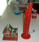 Two Vintage Tin Toy Banks. School House P. S. 23 And A Nickel, Dime, And Quarter