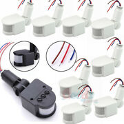 Lot Pir Infrared Automatic Motion Sensor Detector Wall Lamp Switch Light 180° Us