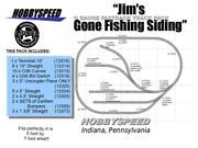 Lionel Fastrack O Gauge Jim's Gone Fishing Siding Track Pack Layout Manual New