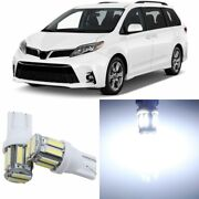 19 X Super Bright White Interior Led Lights Package For 2011- 2019 Toyota Sienna