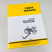 Parts Manual Catalog For John Deere 7 And 7c Power Mower Mounted Type Sickle Bar