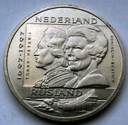Netherlands 2andfrac12 Ecu 1997 Unc 400 Years Diplomatic Contact With Russia X111 Y12.1