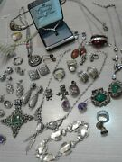 430 G Sterling Silver Jewelry Lot, Wear, Pre Owned, Vintage, Fashion, Designer