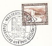 Germany 3rd Reich Special Cancel Collector Wassertrüdingen Franc Day 1937 5w