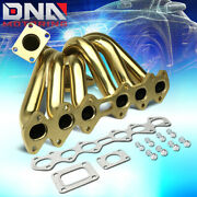 For 1993-1998 Toyota Supra 2jzgte 3.0 T4 Stainless Top Mount Turbo Manifold Gold