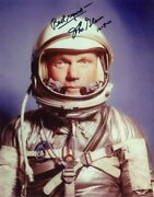 John Glenn Signed Autographed 11x14 Nasa Astronaut Photo Great Content And Dated