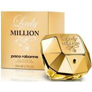 Lady Million By Paco Rabanne Edp 2.7 / 2.8 Oz Edp Perfume For Women New In Box