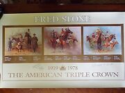 Fred Stone Triple Crown 1919 - 1978 Print Signed By Stone/cruguet/turcotte