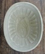 Antique Ironstone Early 1900s Pineapple Or Artichoke Stain Pudding Jelly Mold