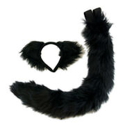 Pawstar Kitty Cat Ear And Tail Set - All Black Furry Halloween Costume[shadow]4000