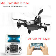 Rc Quadcopter Wifi Fpv 0.3mp Camera Led 3d Flip 4ch Mini Drone Bnf Helicopter
