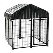 Lucky Dog 4and039 X 4and039 X 4.5and039 Covered Wire Dog Fence Kennel Pet Play Pen 2 Pack