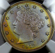 1912 Liberty Head Nickel Choice Proof Ngc Pr-63... Awesome Color, Matte Look