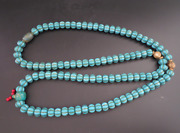 26.37old Chinese Jade Collectibles Tibetan Turquoise Necklaces376g