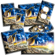 Planet Saturn Space Galaxy Stars Mars View Light Switch Outlet Plates Room Decor
