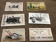 Misc-3433 Lot Of 6 Victorian Trade Cards Farm Implements - Carriages
