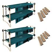 Disc-o-bed Large Cam-o-bunk Bunked Double Cot 2 Pack And Leg Extensions 2 Pack
