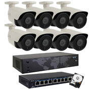 8ch Nvr 8 4k Starlight 2mp 3.6 Mm Ip Poe Security Camera System 2tb Hd