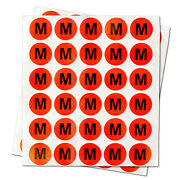M Clothing Size Labels Round Sale Adhesive Stickers For Retail Apparel 10rolls