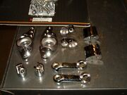 10 Chrome Rear Footpeg Mounting Kit For Most 1980-2007 Harley Touring Bikes