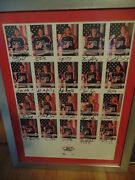 2002 Womenandrsquos Olympic Ice Hockey Team20 Signed Cards Framed/matted/cammi Granato