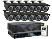 16ch Nvr 12 4k 8mp 2.8-12mm 72 Ir Leds Ip Poe Security Camera System 2tb Hd