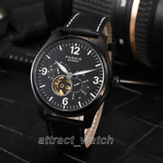 44mm Parnis Miyota Automatic Menand039s Mechnical Watch 24-hour Dial Sapphire Crystal